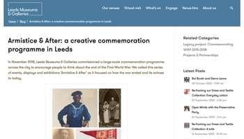Armistice & After: a creative commemoration programme in Leeds