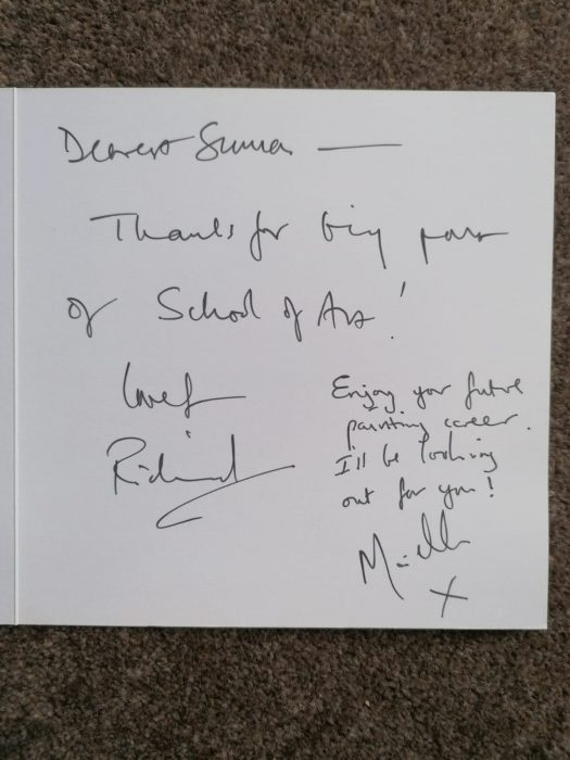 Card from Richard and Michelle from the BBC