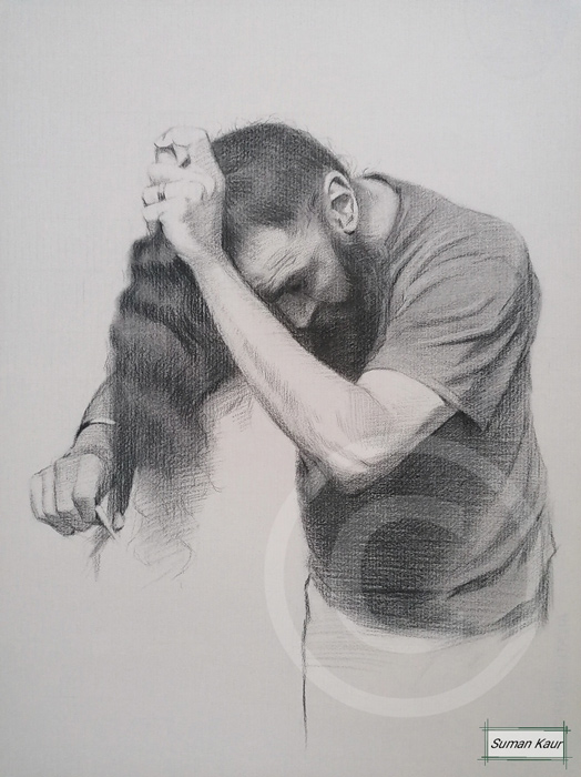 A1 Charcoal on paper
