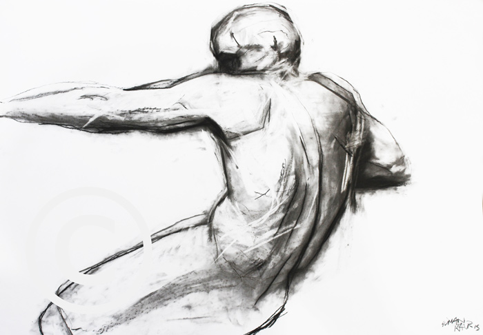 SK19 A1 Charcoal on paper. £400.00
