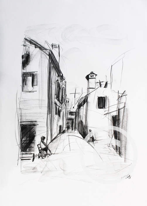 SK13 A1 Charcoal on paper. £400.00