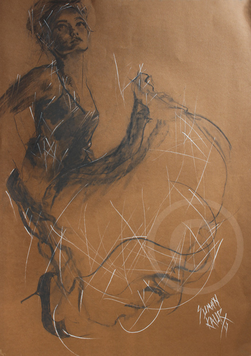 SK16 A1 Charcoal on paper. £400.00
