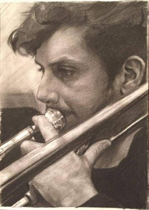 SK35 A4 Chalk and charcoal on toned paper. £150.00