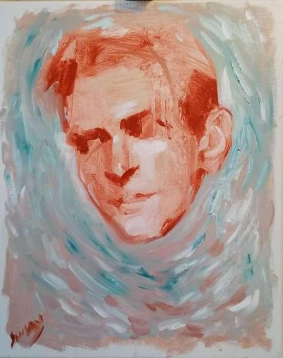 SK28 50 x 40 cm Acrylic on canvas. £500.00